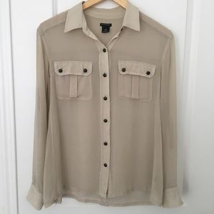Club Monaco 100% Silk Blouse